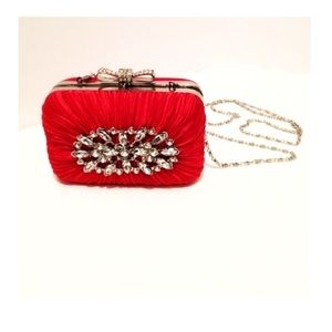Handbags - Holidays Red & Rhinestones Cocktail Little Purse